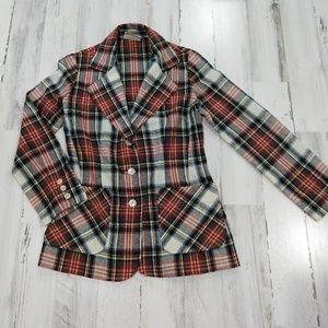 Vintage 70s Jantzen Fall Plaid Blazer Shirt